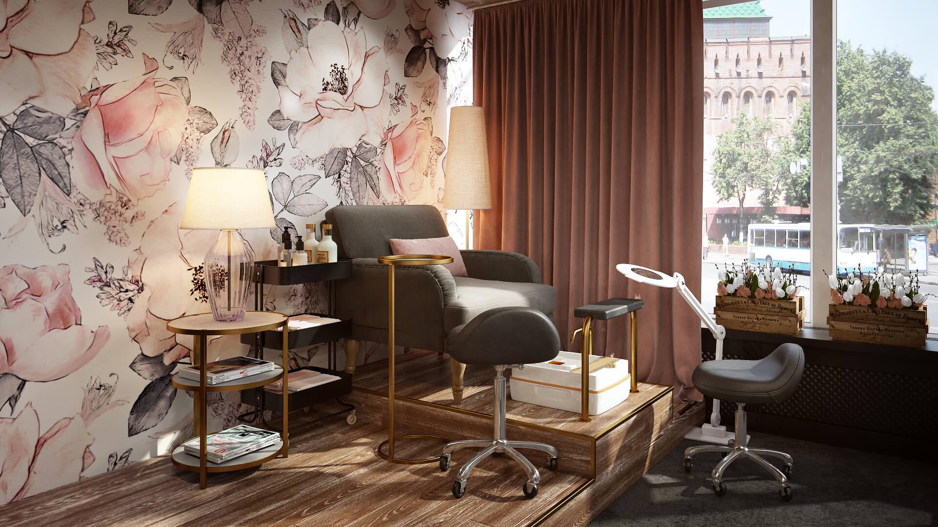 Уютный дизайн интерьера салона красоты: атмосфера релакса для клиента