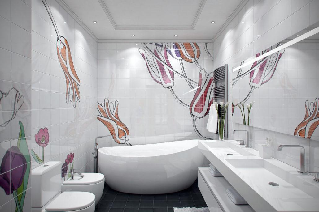 Весенний дизайн интерьера ванной View01