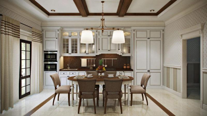 Кухня в стиле современная классика из натуральных материалов
