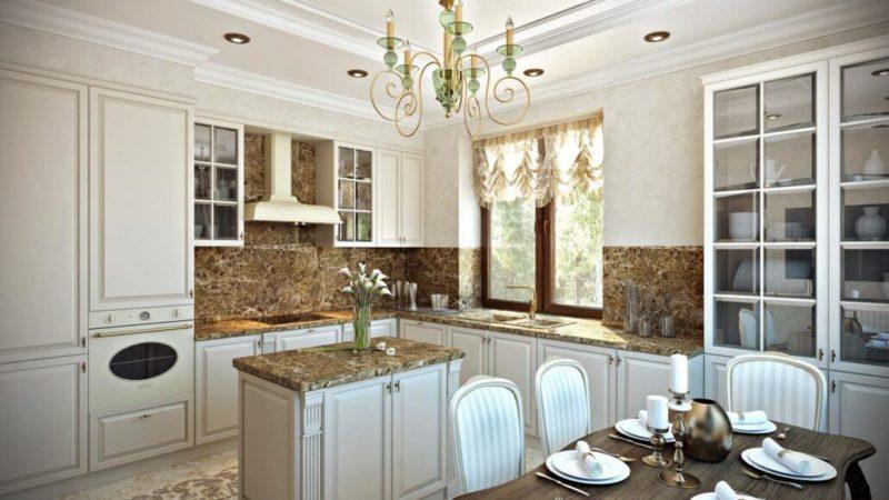 Классический дизайн кухни в квартире