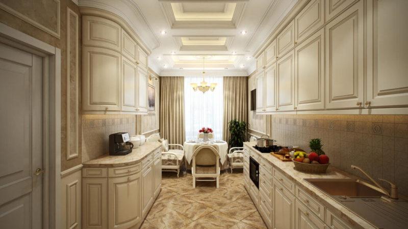 Дизайн проект интерьера кухни в классическом стиле