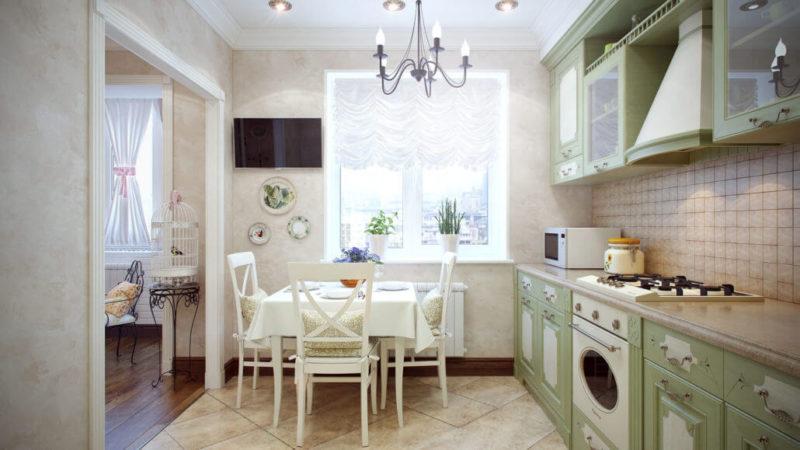 Фото маленькой кухни в классическом стиле