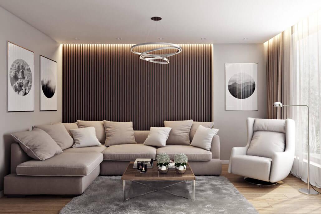 Комфортный дизайн однокомнатной квартиры Вид04