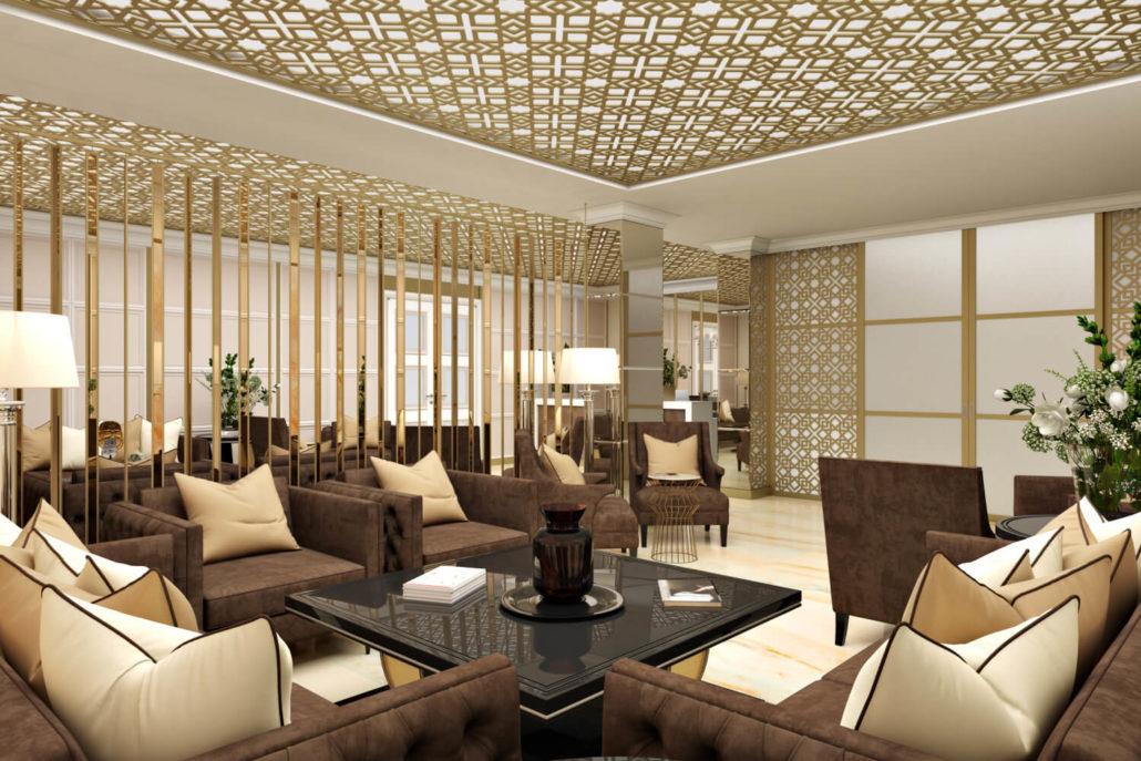 Элегантный дизайн отеля: лобби View03