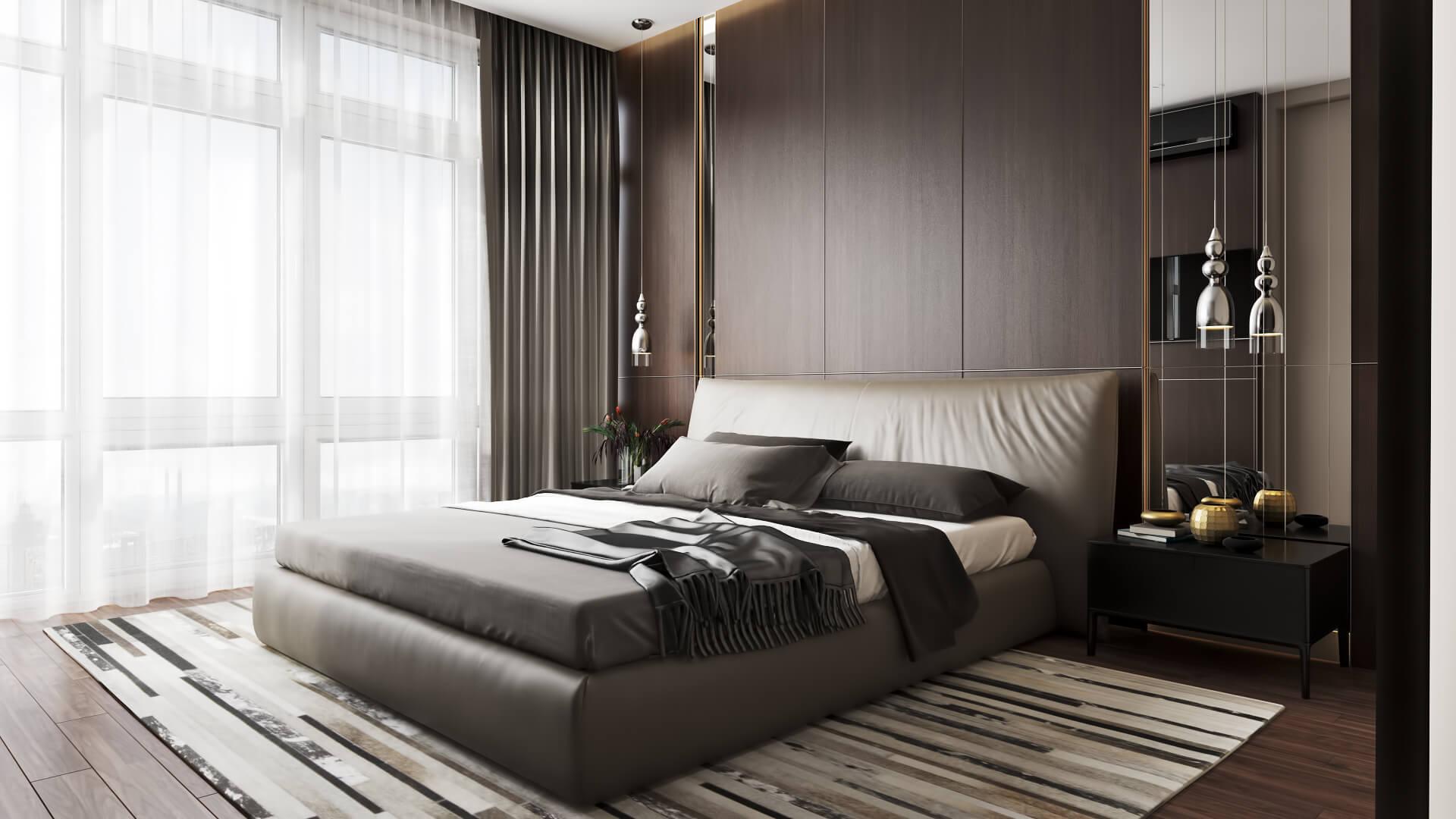 Дизайн интерьера спальни в современном стиле Вид02