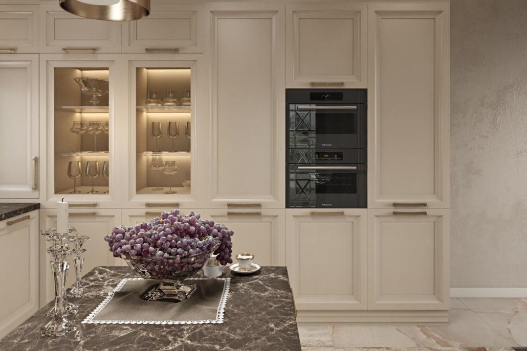 Дизайн интерьера гостиной-кухни в проекте частного дома Вид05