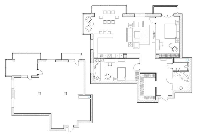 Планировка в дизайн-проекте интерьера квартиры