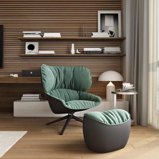 Комфортное рабочее место в дизайн-проекте квартиры