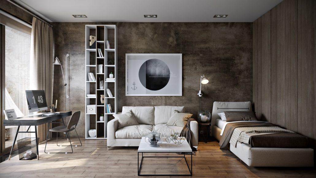 Cпокойный и элегантный дизайн спальни для подростка Вид 01