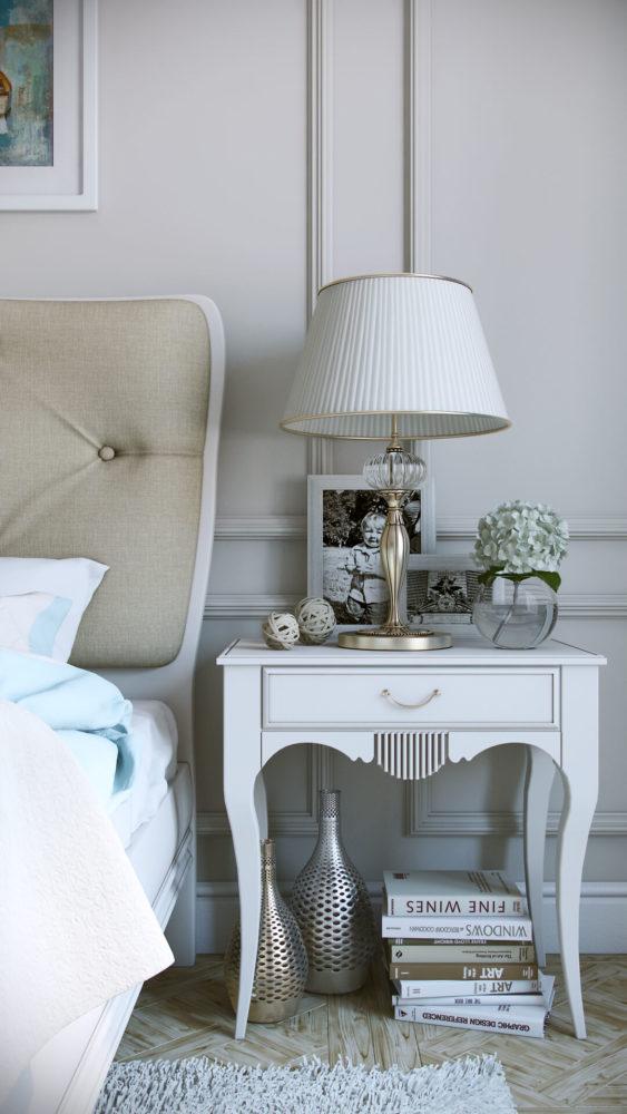 Элегантный дизайн спальни в классическом стиле View06