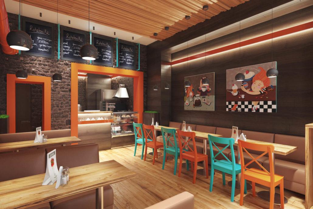 Дизайн интерьера для кофейни во Львове Вид02