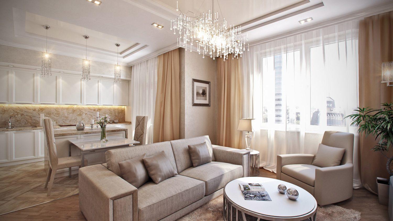 Уютный и эксклюзивный дизайн интерьера квартиры для молодой семьи Вид01