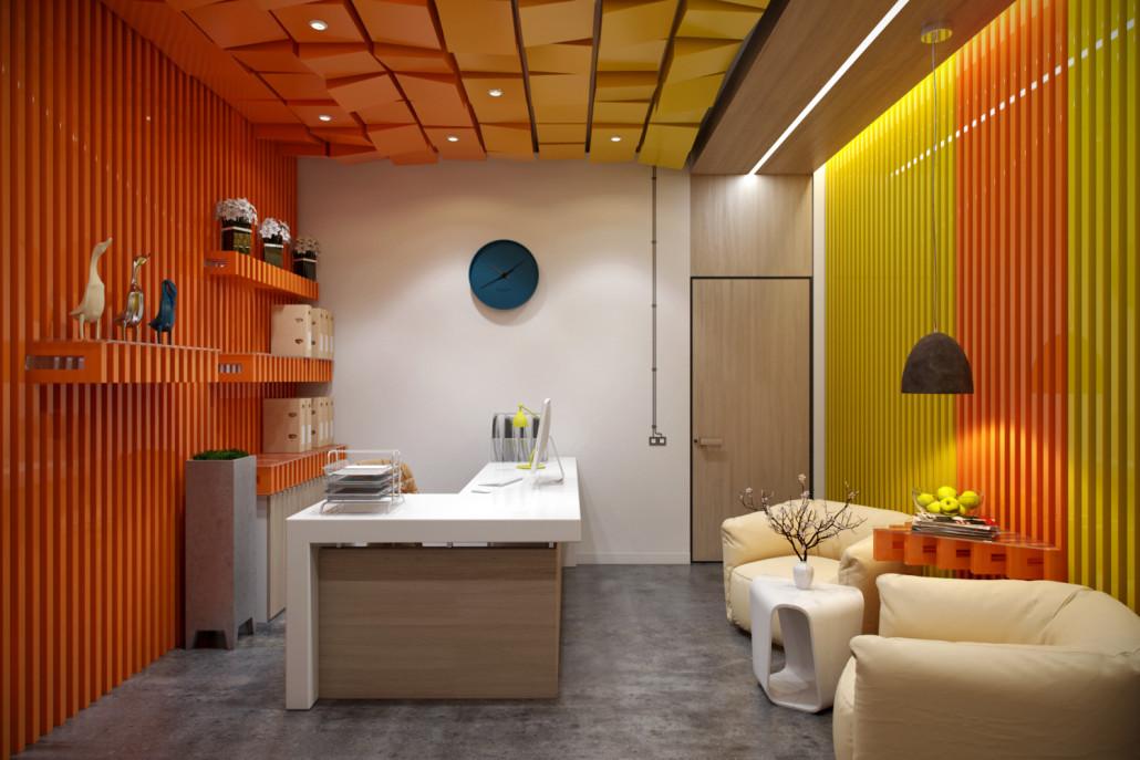 Яркий дизайн офиса