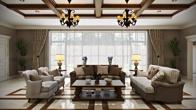 Изысканный интерьер частного дома: атмосфера надежности View05