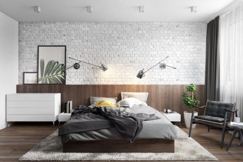 Примеры уютного дизайна интерьера спальни Вид01