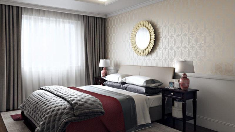 Примеры уютного дизайна интерьера спальни Вид04