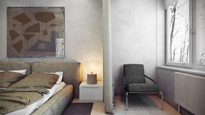 Примеры уютного дизайна интерьера спальни Вид06