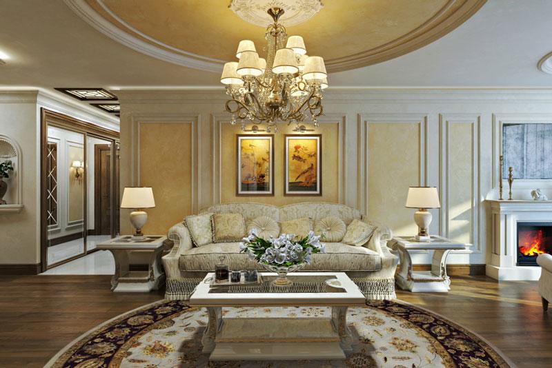 Дизайн-проект гостиной в классическом стиле