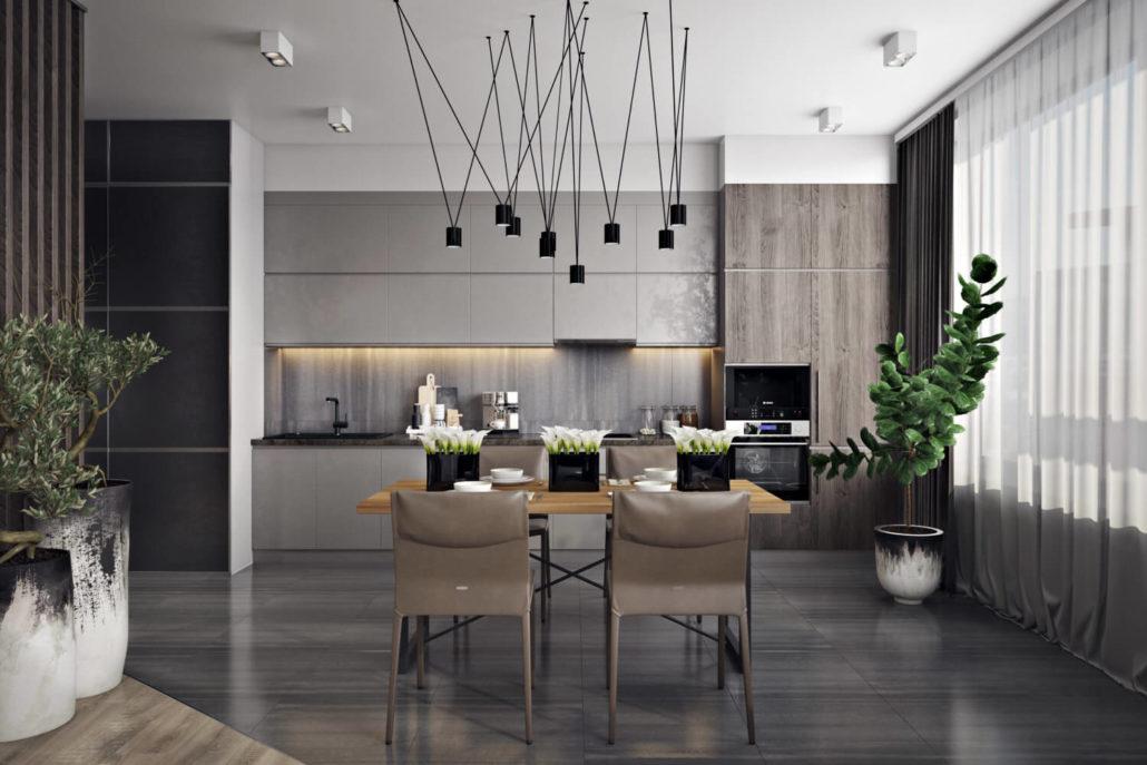 Практичный и модный дизайн интерьера для современной квартиры Вид02