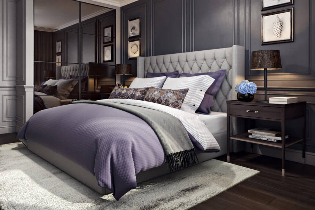 Настольные лампы в дизайне интерьера спальни