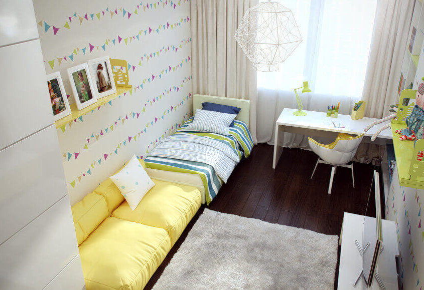 Комфортная детская комната с яркими акцентами