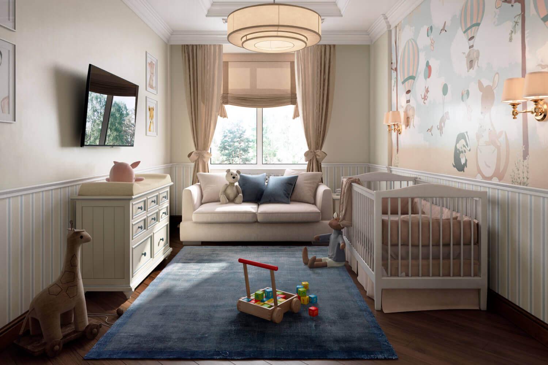 Дизайн детской комнаты для малыша: игровое пространство