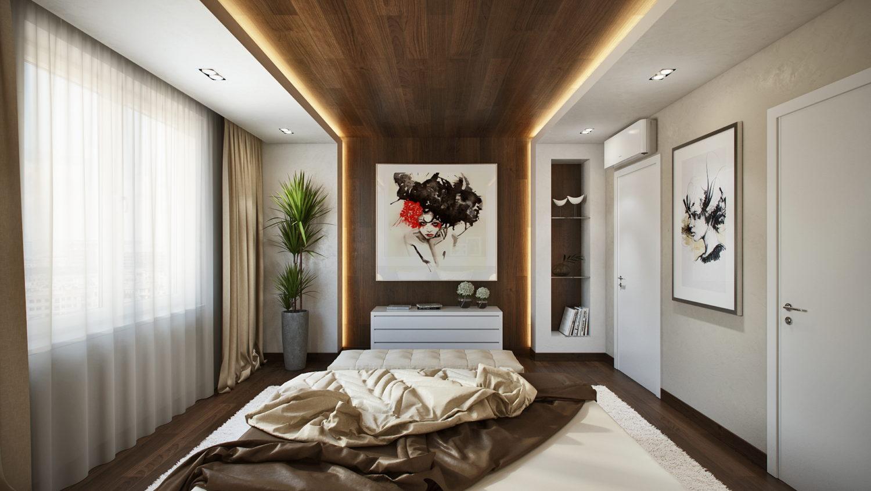 Современный и простой дизайн спальни