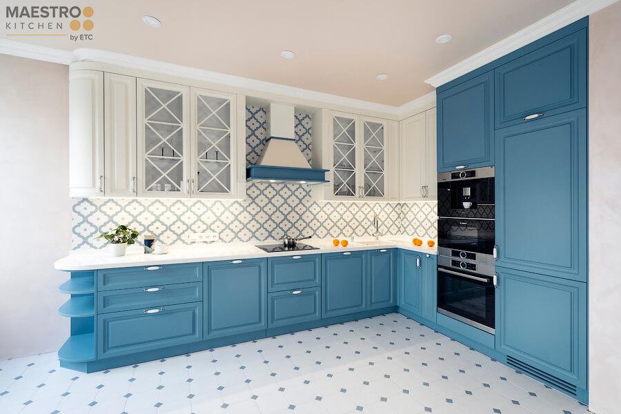 Фото дизайна кухни в стиле Прованс по проекту Home Interiors Вид02