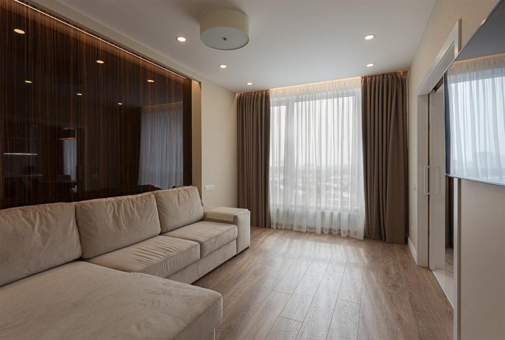 Дизайн квартиры в Киеве: интерьер гостиной Вид07