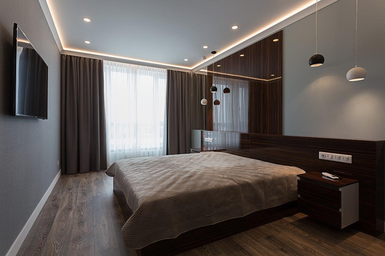 Дизайн квартиры: интерьер спальни Вид07