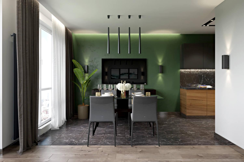 Дизайн-проект столовой в современном стиле Вид05