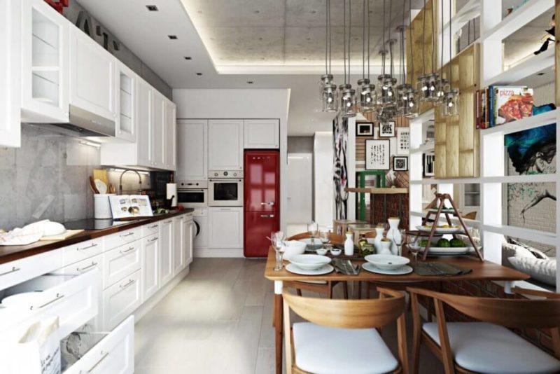 Стиль лофт для яркого современного дизайна кухни