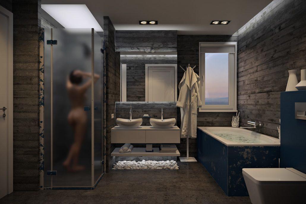 Стильный современный дизайн ванной для комфорта View01