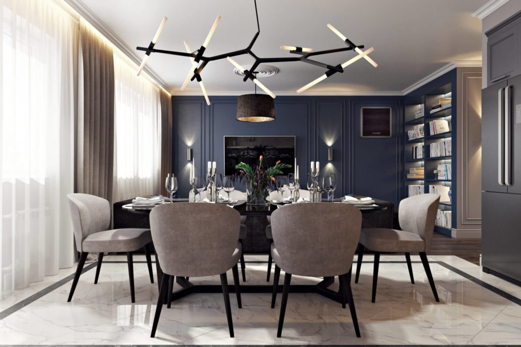 Эклектичный дизайн интерьера квартиры
