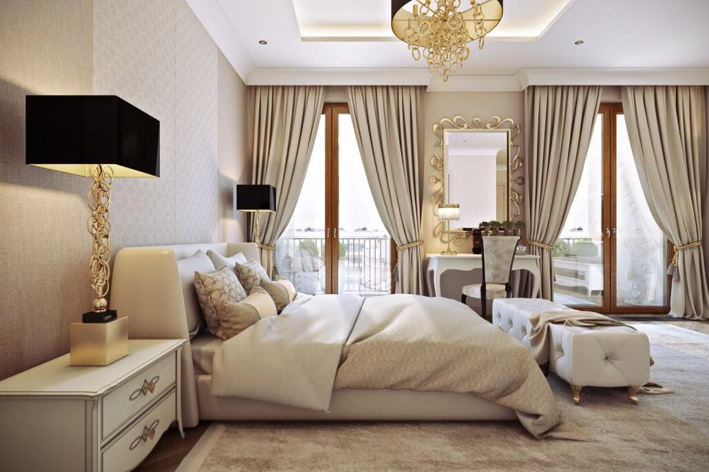 Утонченный дизайн интерьера спальни в Киеве