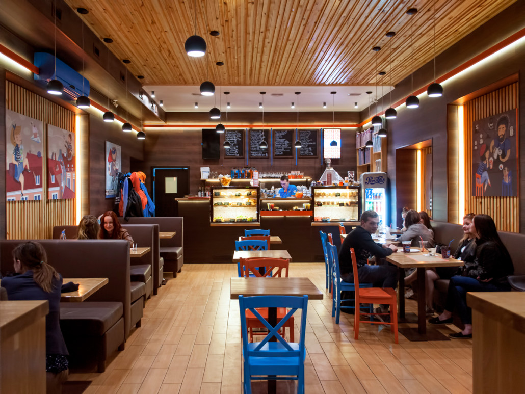 Дизайн уютного кафе на Печерске