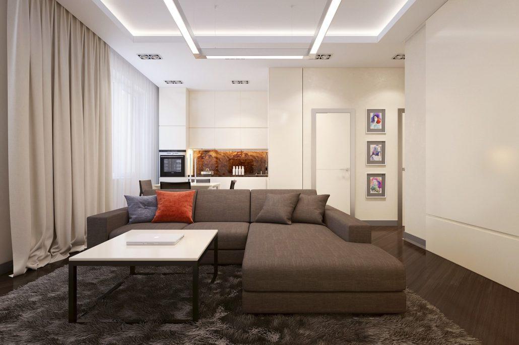 Стильный и уютный дизайн интерьера Вид01