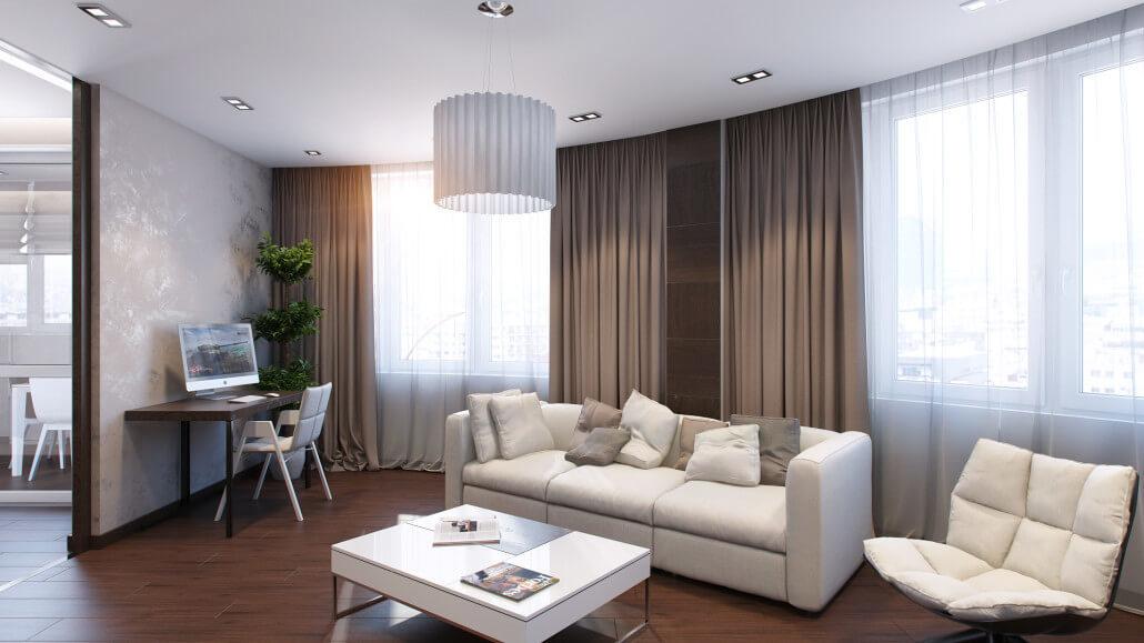 Эффектный и уютный дизайн квартиры. Вид02