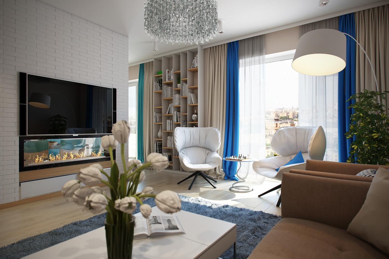 Дизайна квартиры в светлых оттенках