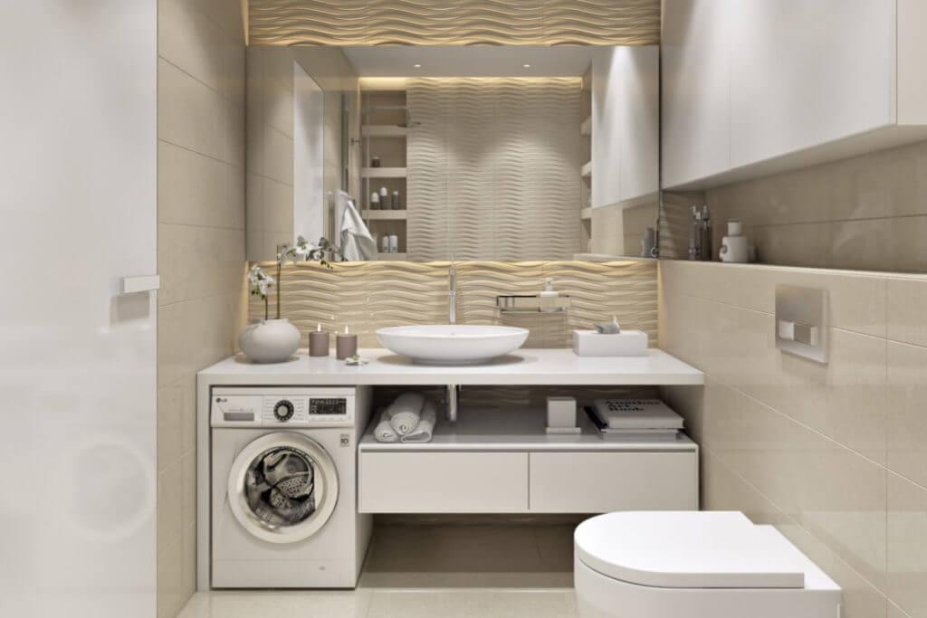 Ремонт ванной комнаты в светлых тонах