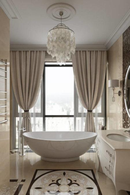 Классический дизайн интерьера ванной