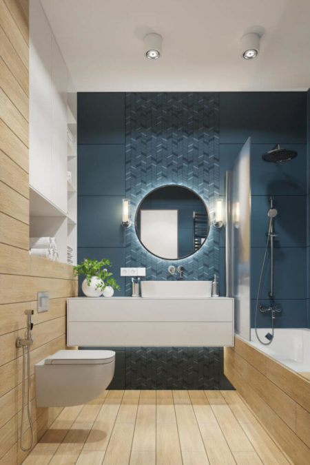 Ремонт ванной и подбор светильников