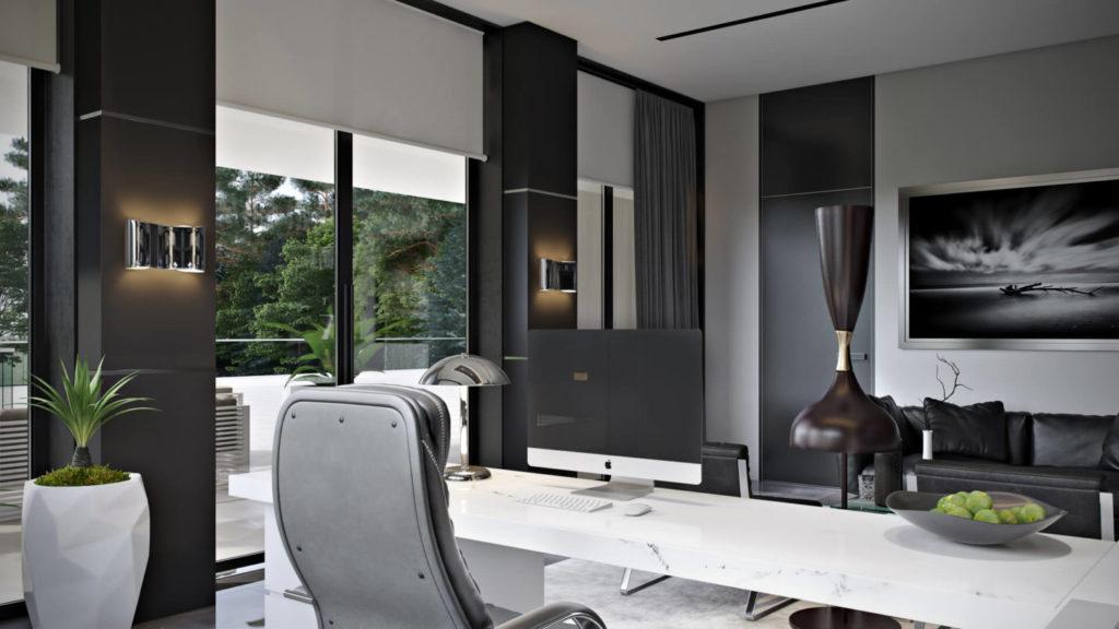 Дизайн домашнего кабинета для работы и встреч