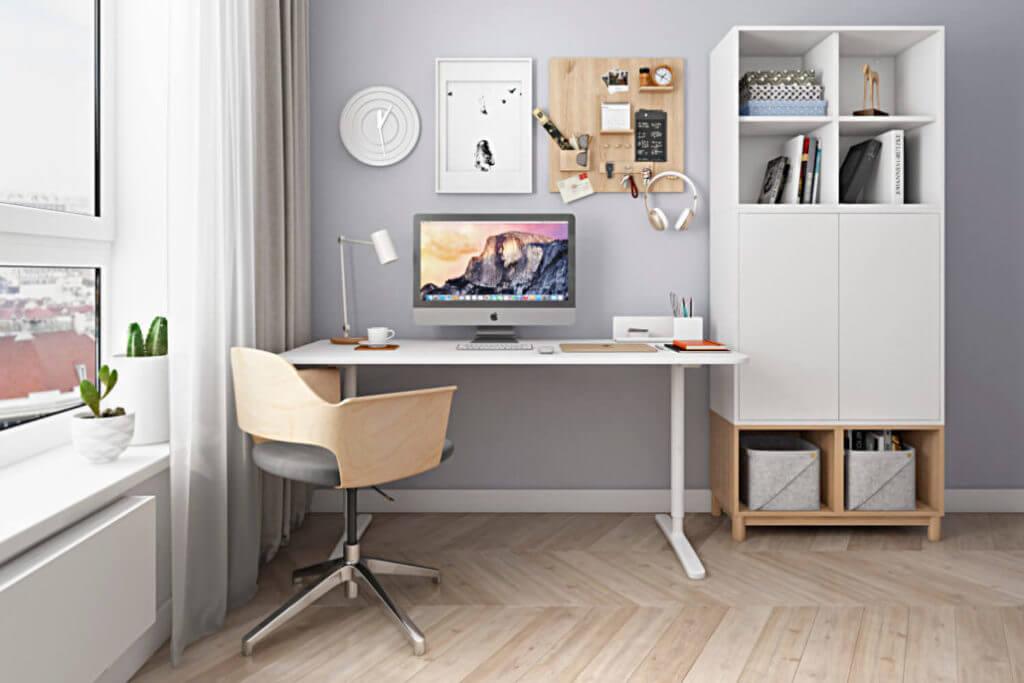 Дизайн-проект домашнего офиса в современном стиле