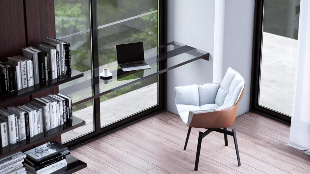 Дизайн домашнего офиса в частном доме