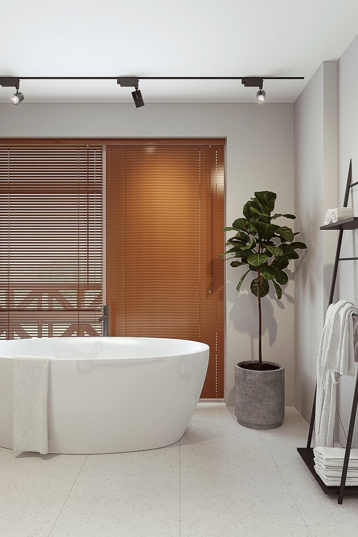 Дизайн интерьера идеальной современной ванной в загородном доме