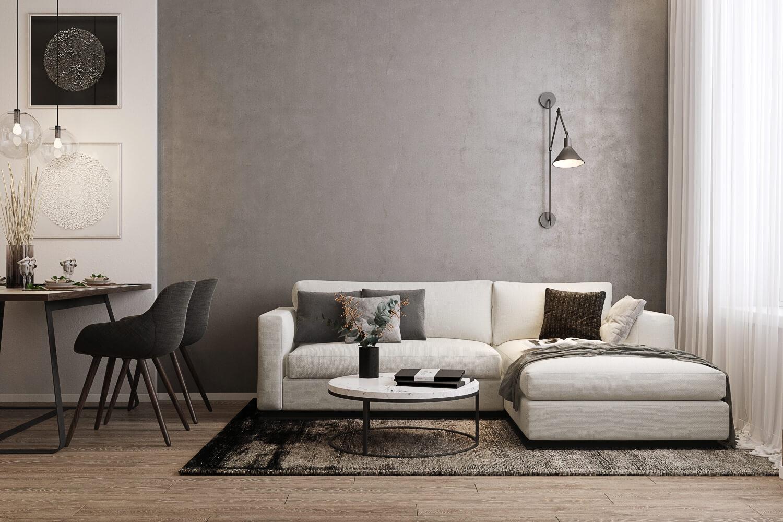 Дизайн-проект трехкомнатной квартиры в современном стиле: студия