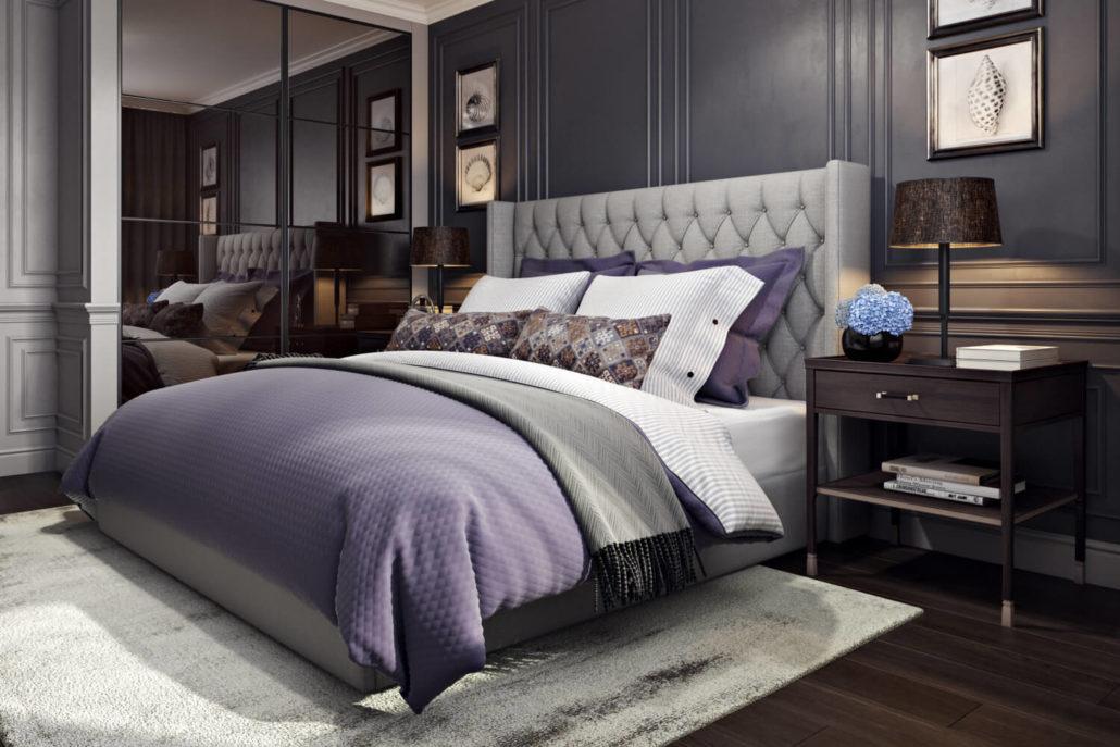 Дизайн спальни с мебелью, собранной из разных гарнитуров