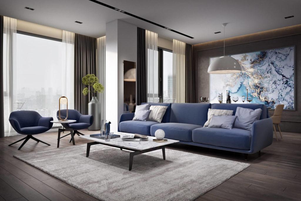 Состав дизайн-проекта интерьера: расстановка мебели и декора