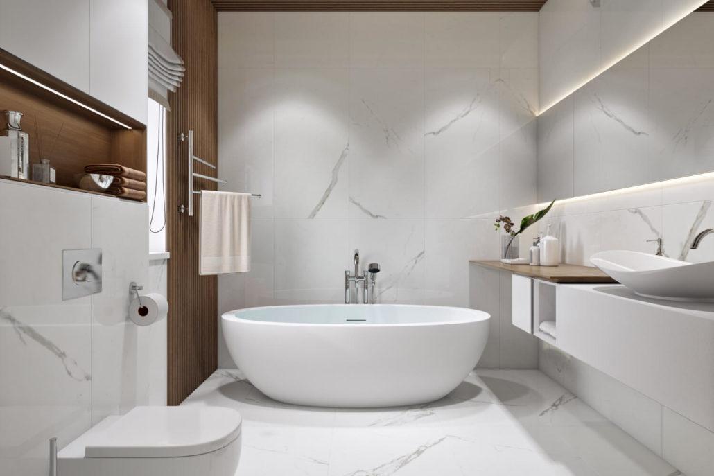 Материалы в выборе отдельностоящей ванны